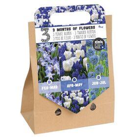 Pick-up tas 3 Months of Flowers Blauw