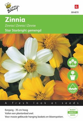 Zinnia Star Starbright Gemengd